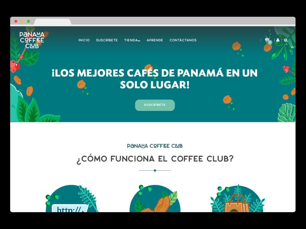 pagina web panama coffee club desarrollada por bluetide
