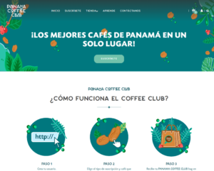 panama coffee club vista del home page