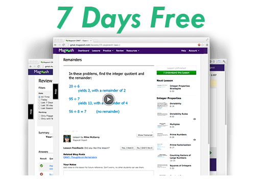 Magoosh GMAT - 7 Days Free