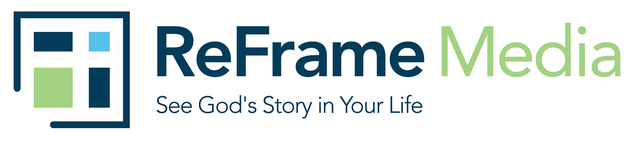 Reframe Media Logo With Tag