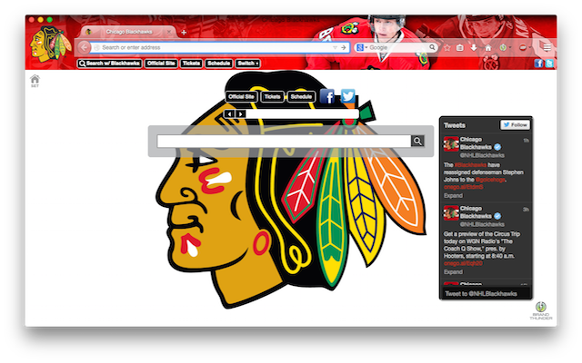 Chicago Blackhawks Interactive Persona welcome image