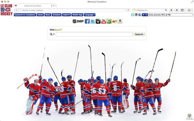 Montreal Canadiens Interactive Persona welcome image