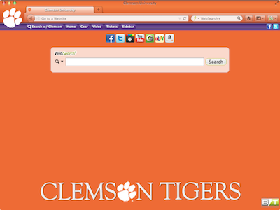 Clemson University welcome image