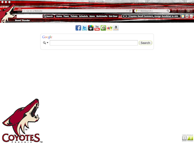 Phoenix Coyotes Interactive Persona welcome image