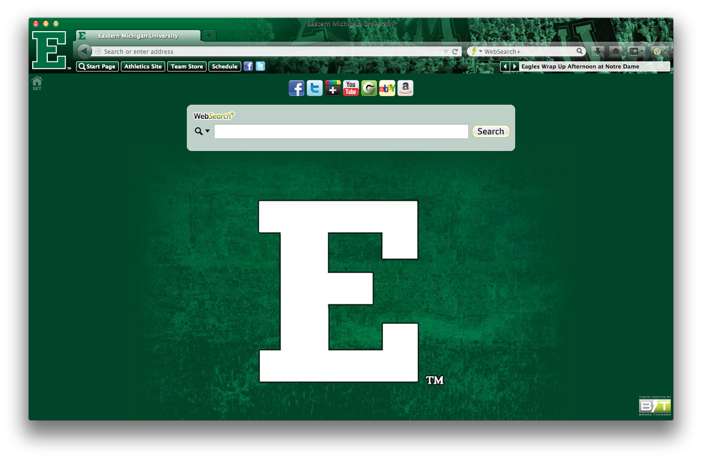 Eastern Michigan University welcome image