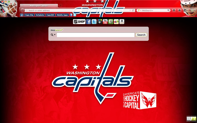 Washington Capitals Interactive Persona welcome image