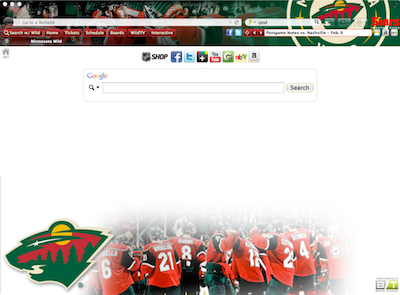 Minnesota Wild Interactive Persona welcome image