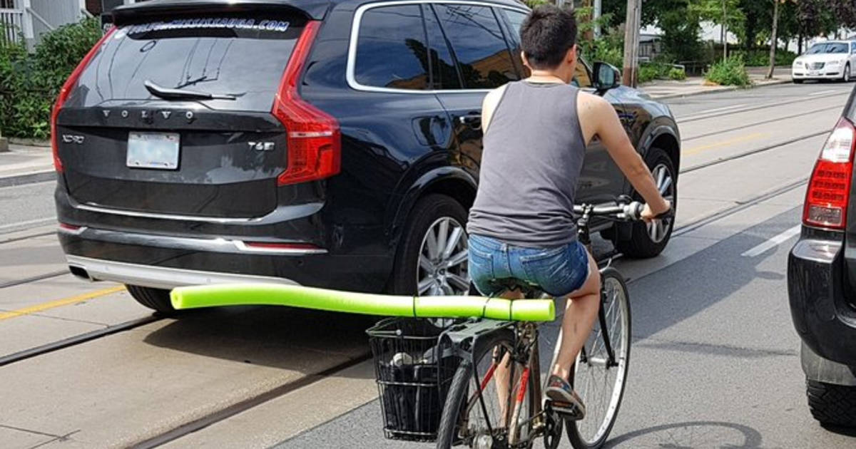 Toronto cyclists are using pool noodles to combat dangerous drivers