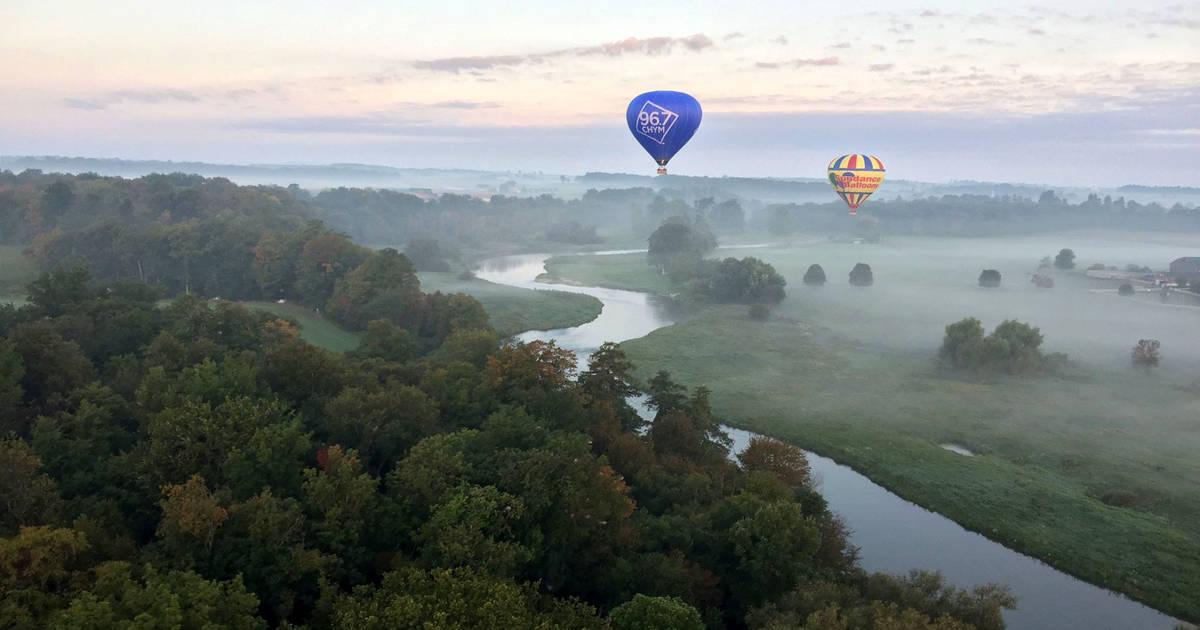 You can take a social distanced hot air balloon ride near Toronto