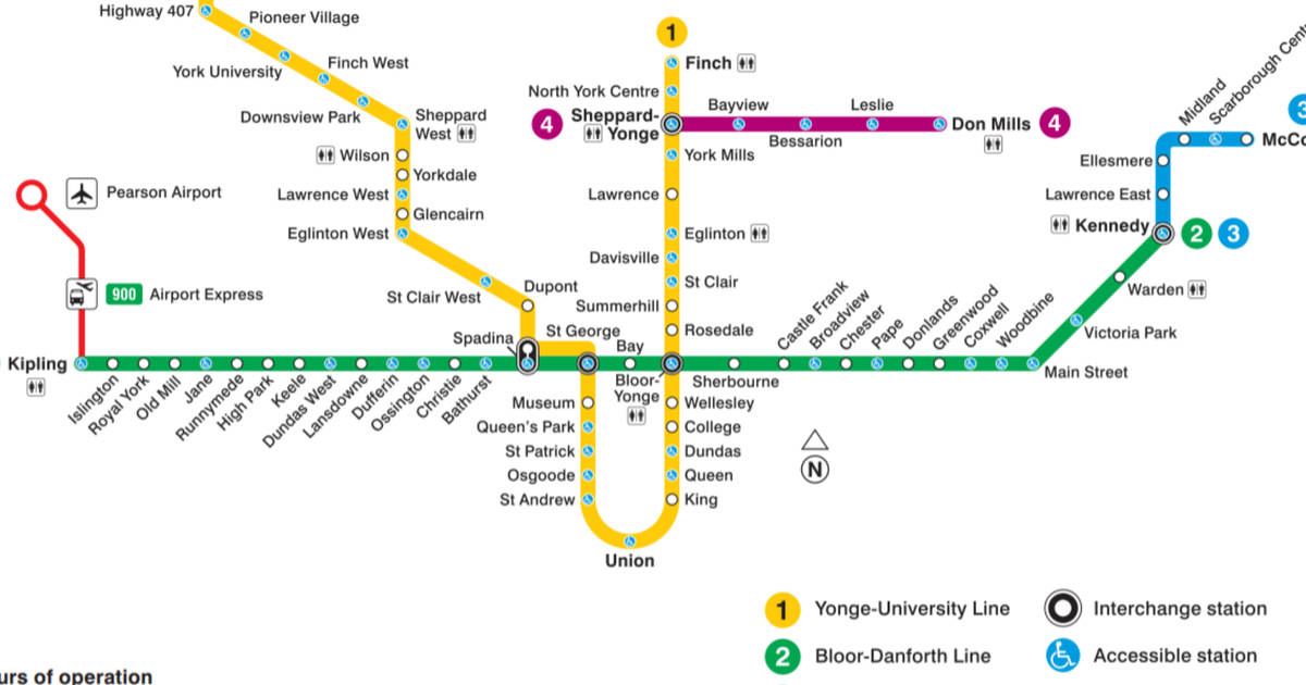 A Subway Map Is A Good Example Of A.The Evolution Of The Ttc Subway Map
