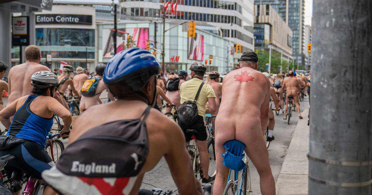 The World Naked Bike Ride is returning to Toronto this year
