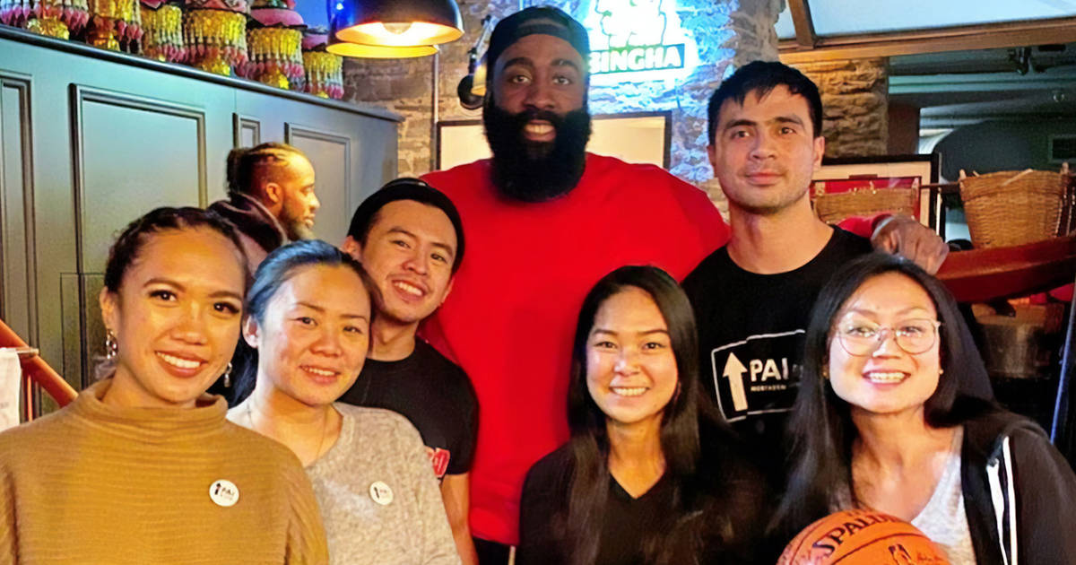 James Harden showed up at a Thai restaurant in Toronto last night