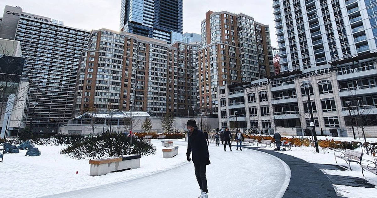 Downtown Toronto just got a new ice skating trail