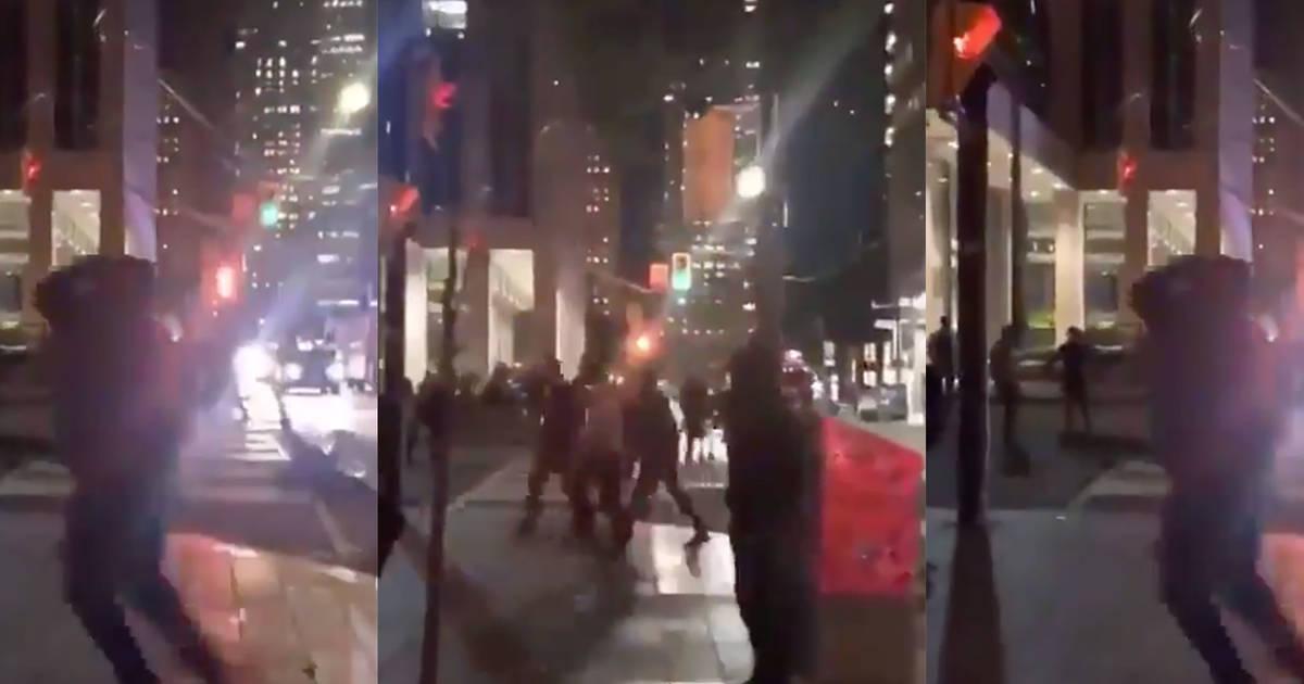 Warriors fans sucker-punched on Toronto street last night