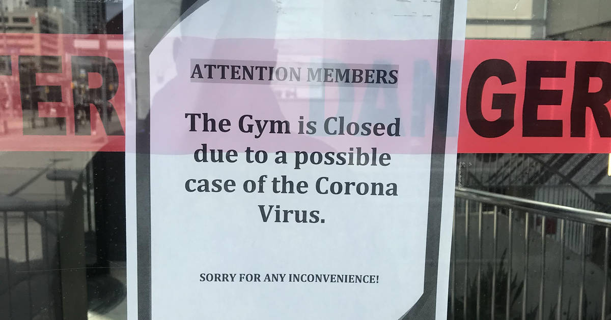 A GoodLife Fitness in Toronto temporarily shut down because of ...