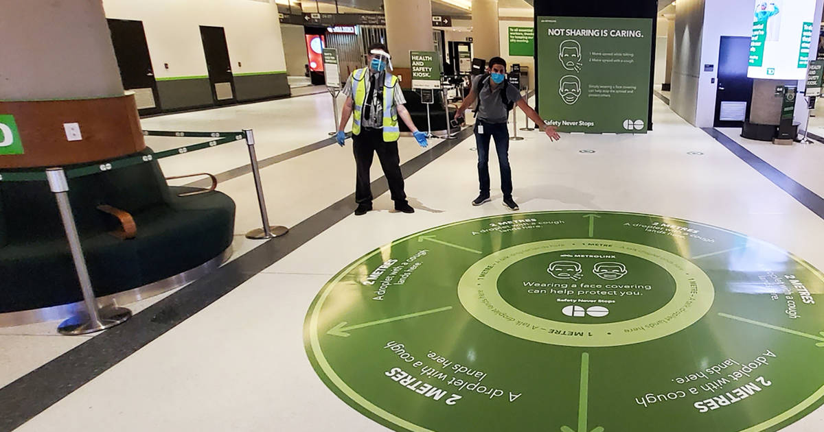 Union Station in Toronto just got a makeover to promote social distancing