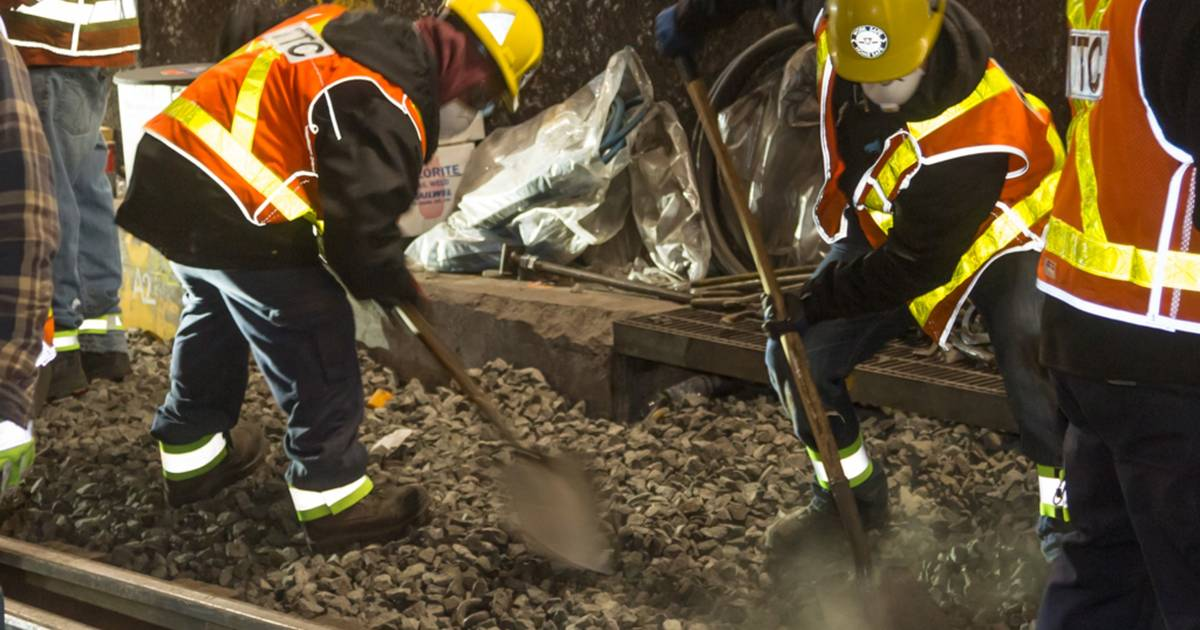 This is what the small rocks found on TTC subway tracks are for