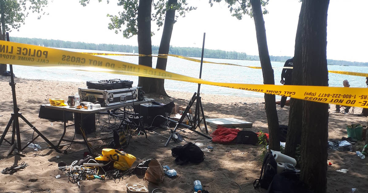Toronto anti-maskers say Cherry Beach chainsaw guys destroyed their DJ booth