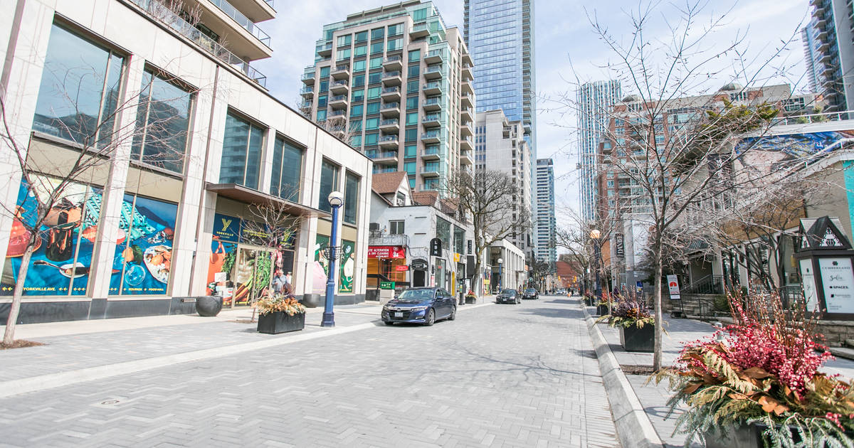 This is what Yorkville looks like in Toronto right now