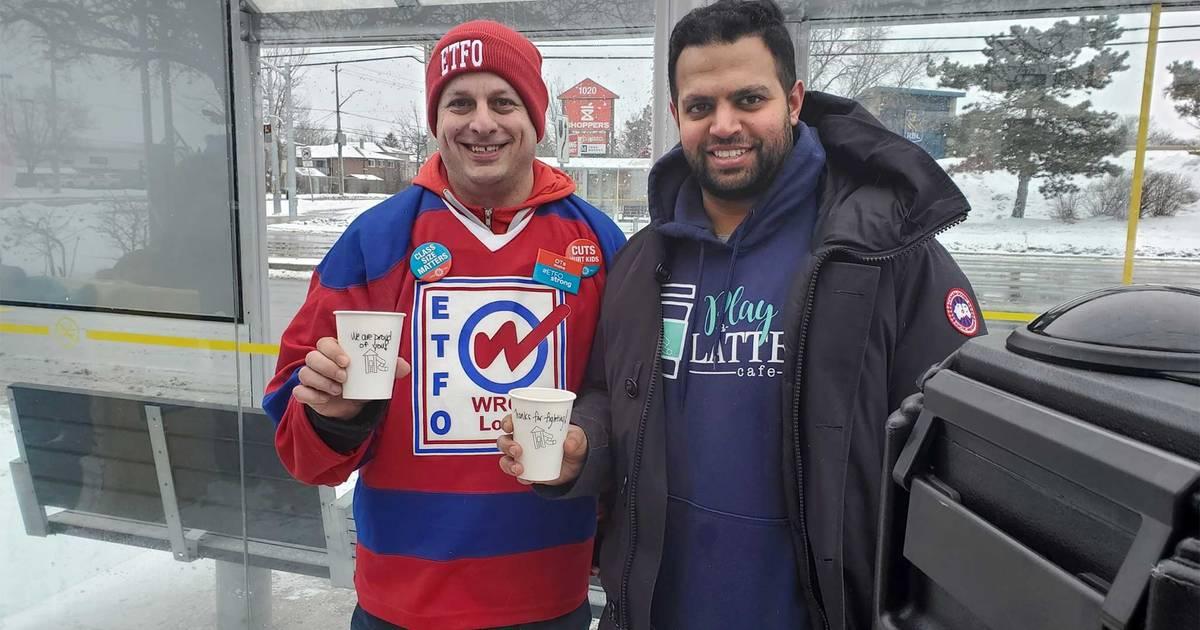 カフェはオンタリオ州の印象的な教師を無料のコーヒーでサポートしています