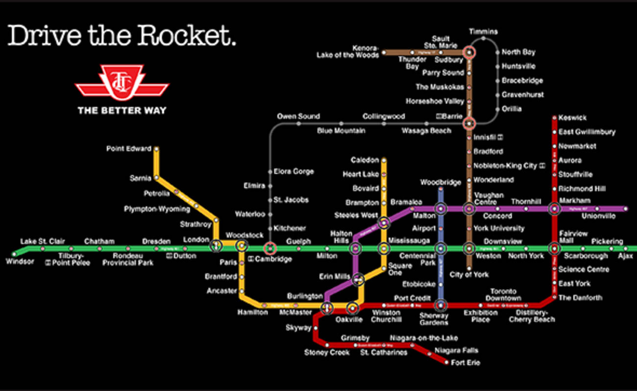 407 Etr Contact >> What Toronto's highways would look like as a TTC map