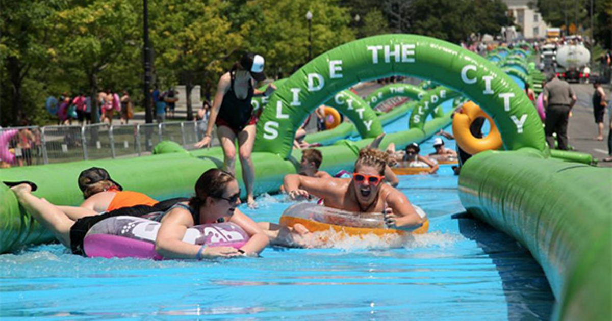 That huge slip and slide is coming to Toronto in July