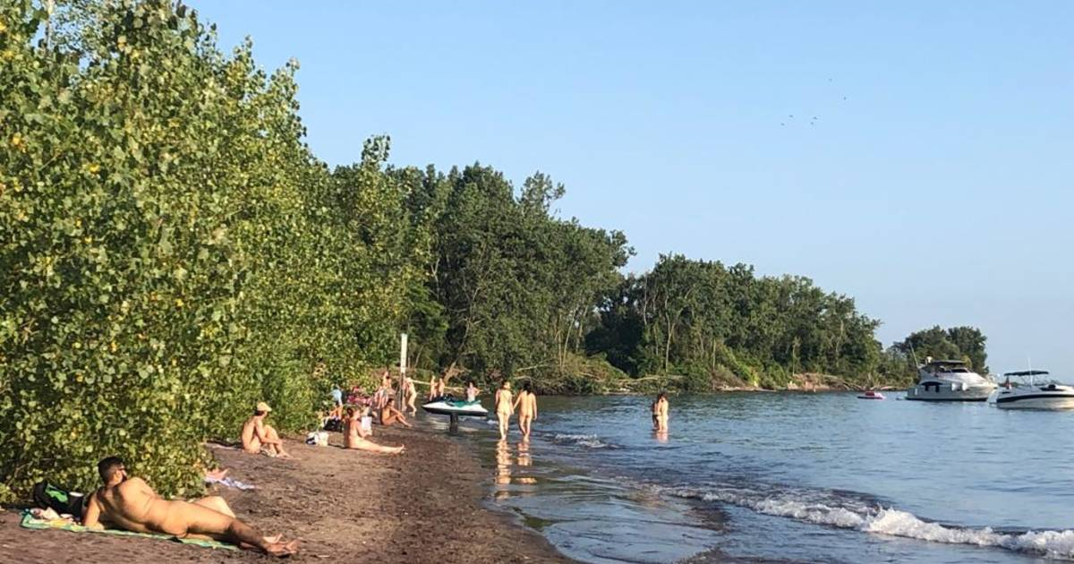 Nude Gay Beach Area at   Stock Photo