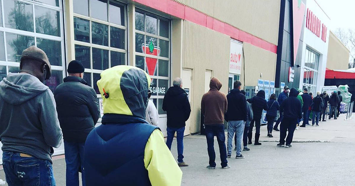Canadian Tire is closing all stores and now their web site has too much traffic