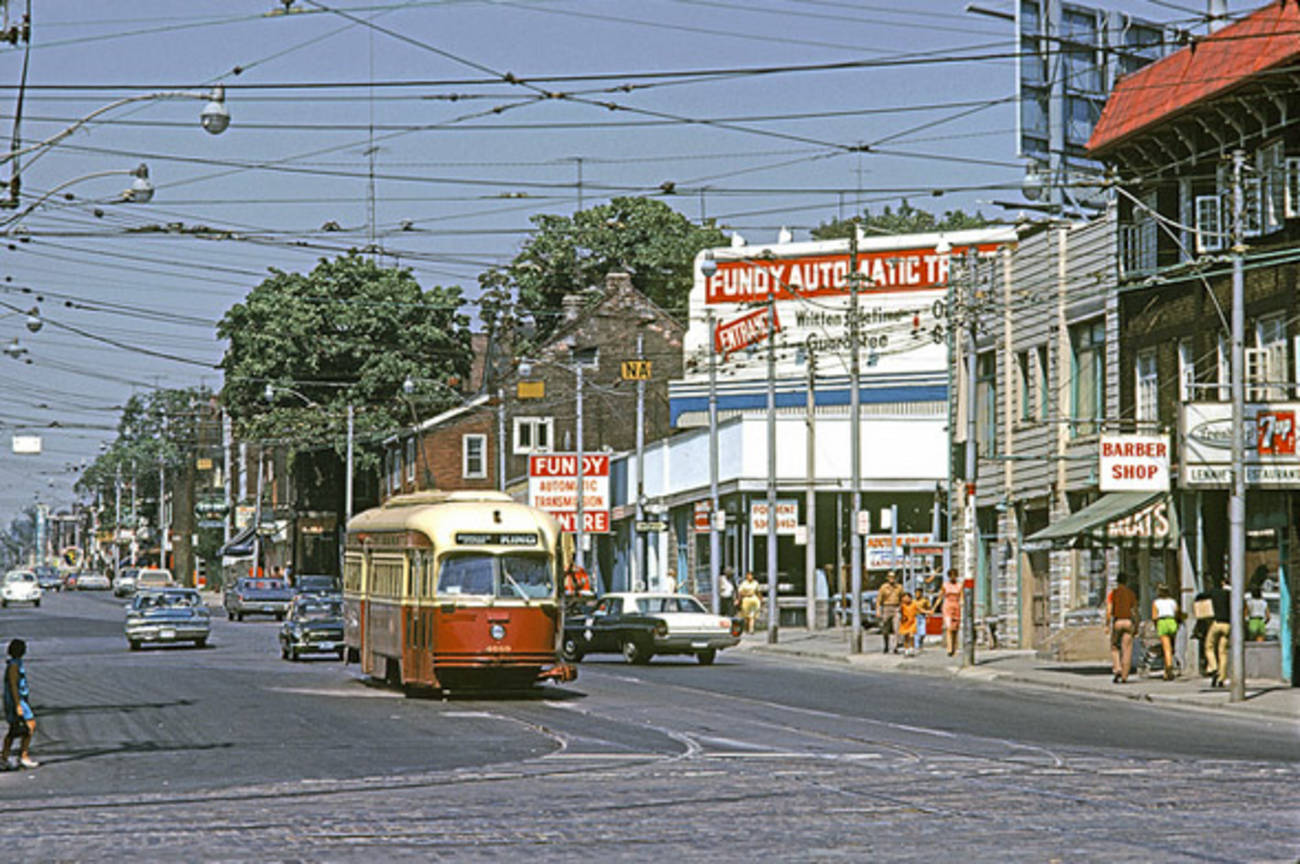 What Roncesvalles Avenue used to look like