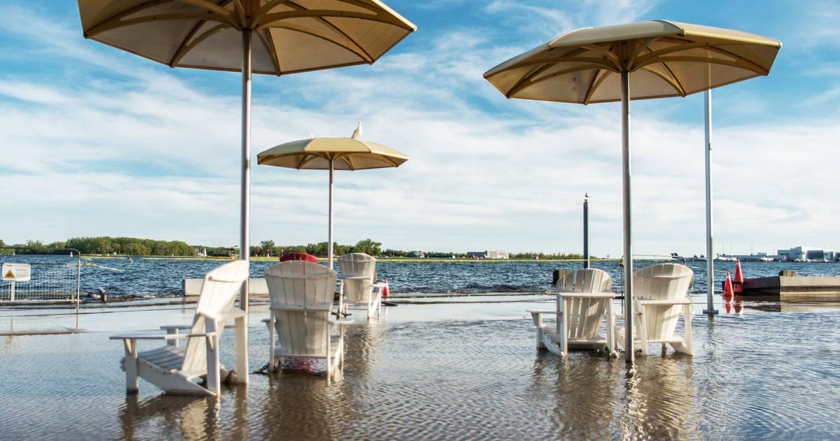 Toronto's fake beach is totally flooded