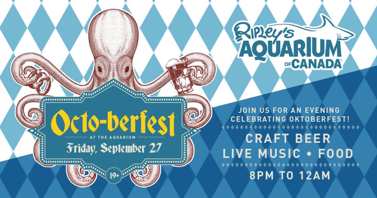 Win tickets to the Ripley's Aquarium Octo-berfest