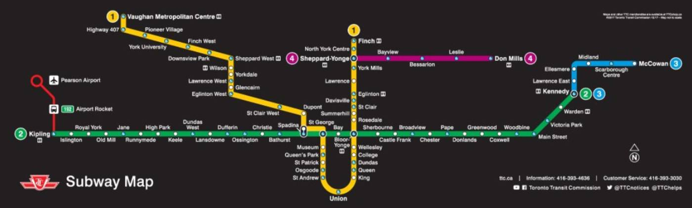 Ttc Subway Map Vs Actual.Xpost Question But Curious To See The Response This Year What