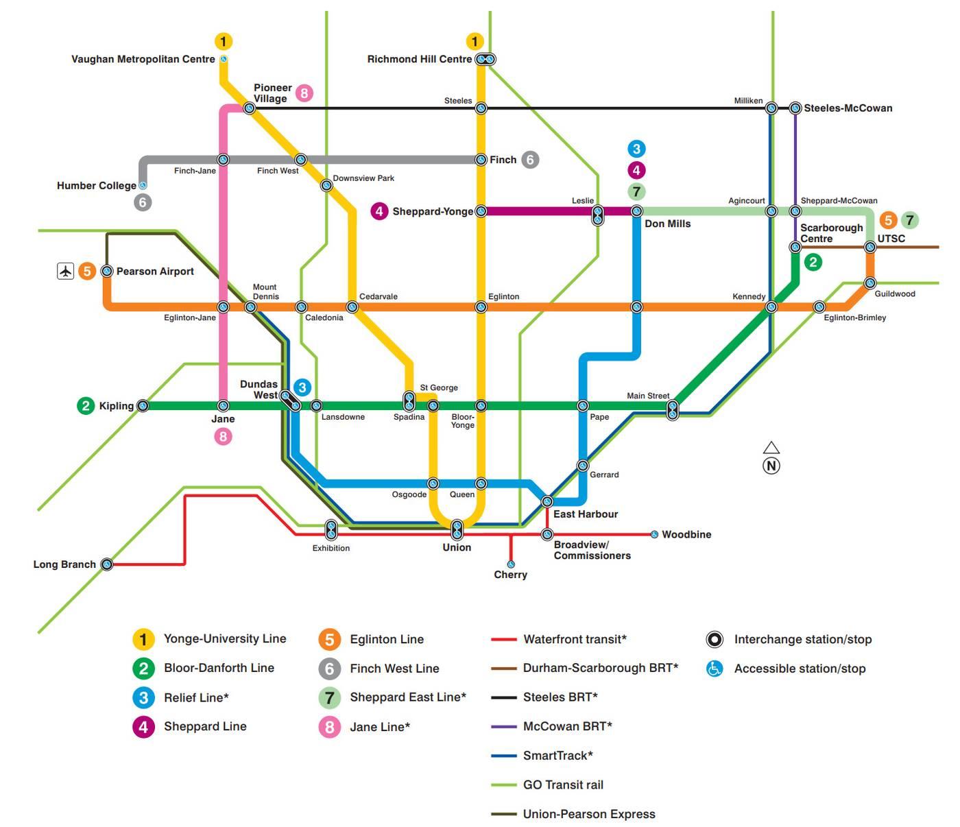 Ttc Subway Map Vs Actual.Toronto Subway Light Rail Page 109 Skyscrapercity