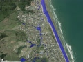 Waihi Beach 50 Year Flood Map