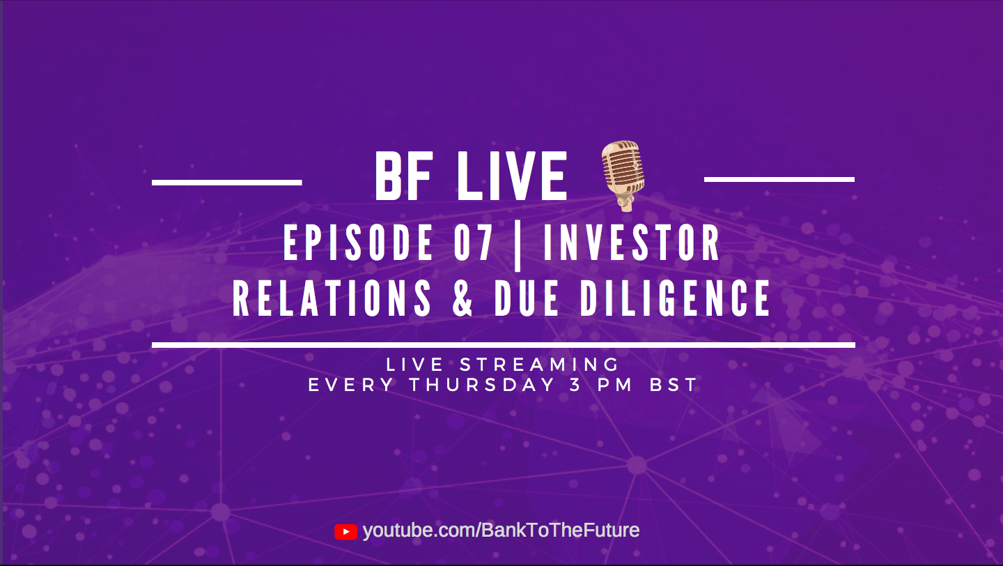 Bnk To The Future Live Ep. 07 | Investor Relations and Due Diligence