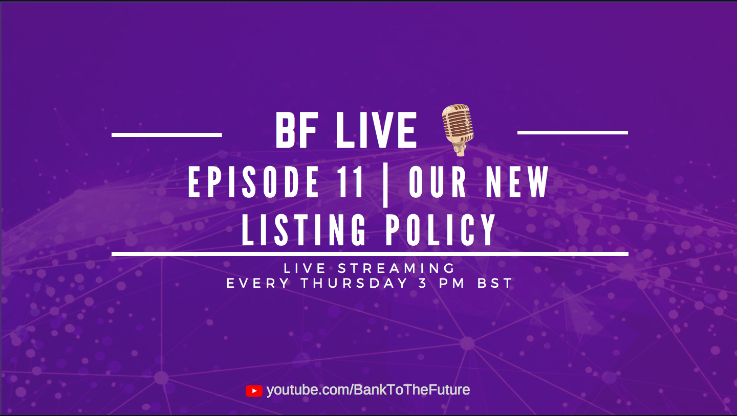 Bnk To The Future Live Ep. 11 | Announcing New Listing on BF Secondary Market