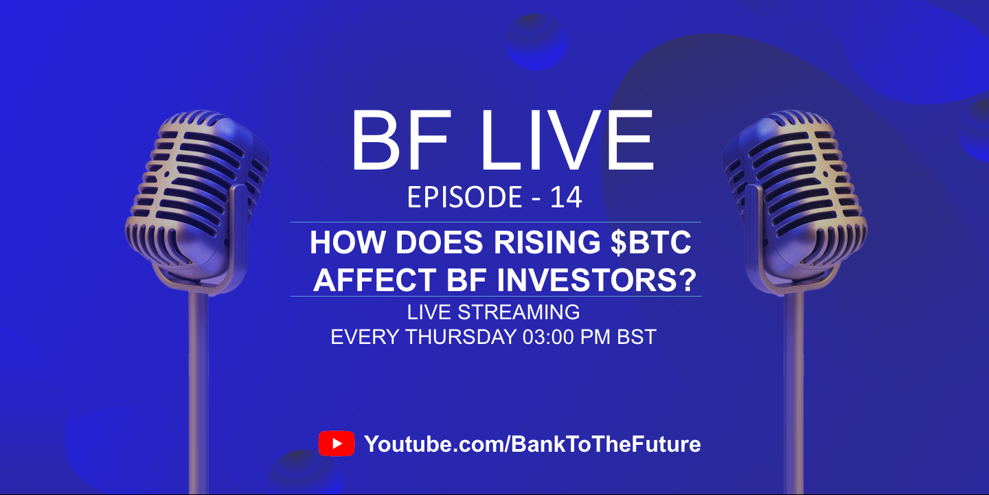 Bnk To The Future Live Ep. 14 | How does rising Bitcoin price affect BnkToTheFuture.com investors?
