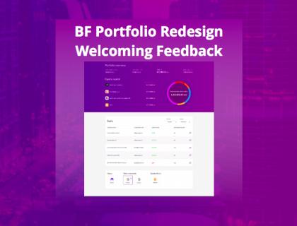 BnkToTheFuture (BF) Portfolio Redesign & How your feedback matters.