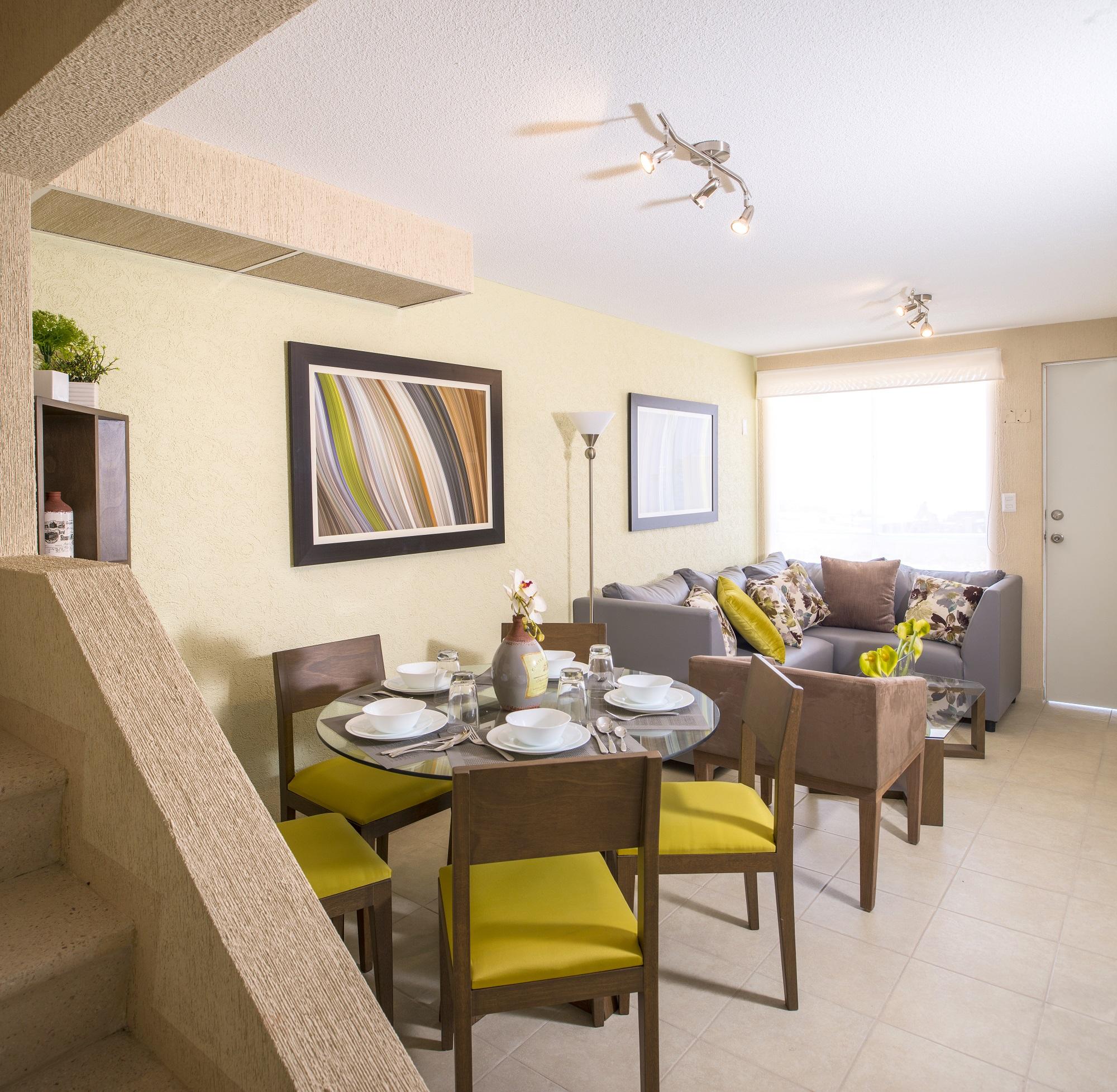 Funcional cocina integral de casa modelo Ceiba 4R sin Balcón