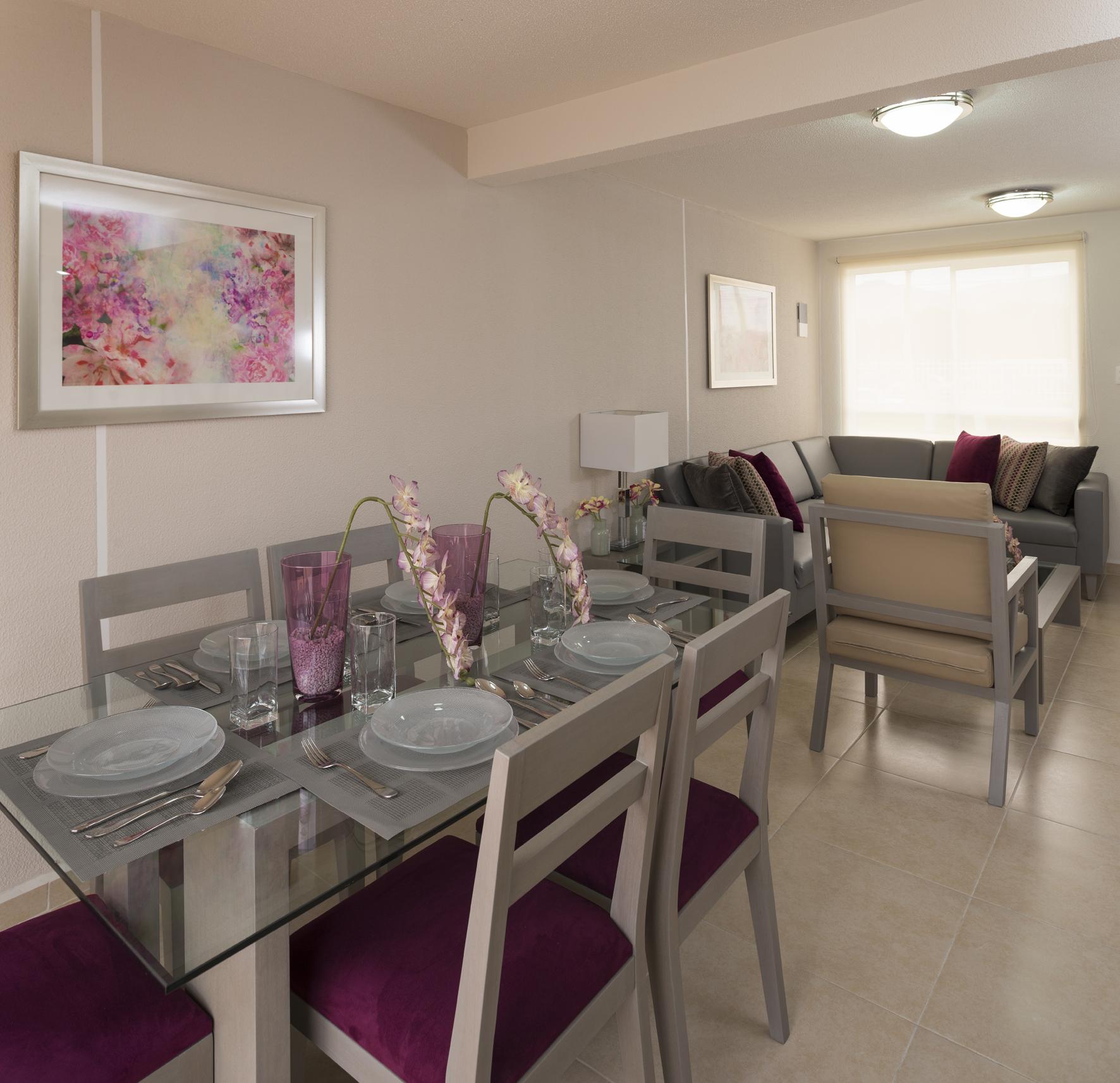 Amplia sala de casa modelo Laurel 2R en Los Héroes Tizayuca