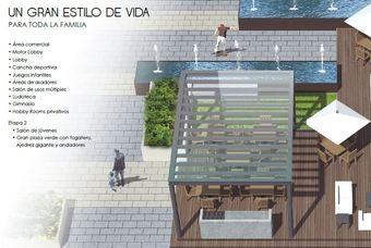 Plaza verde de departamentos en Cima DF-San Isidro en Azcapotzalco