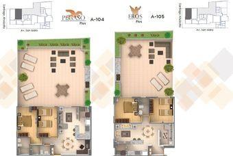 Plano de distribución de departamentos en Cima DF-San Isidro en Azcapotzalco