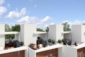 Roof Garden  de departamentos en la colonia del Valle de Alium Residencial de Class