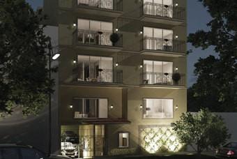Fachada de bonito departamento en la colonia Narvarte Oriente de Class Aura Narvarte.