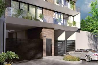 Fachada de bonito departamento en la delegación Benito Juárez  con amplios espacios de Class Ventuti Residencial