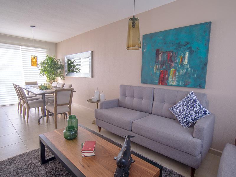 Cómoda sala de casa modelo Tabachin en tres Cantos Querétaro