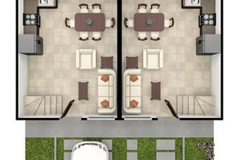 Plano de Casa modelo Soria de Vinte Real Castilla en Huehuetoca