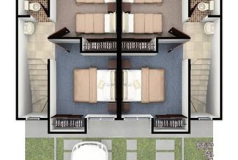 Plano de segundo nivel modelo Sora de Vinte Real Castilla en Huehuetoca