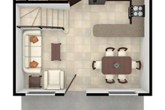 Plano de bonita casa en Huehuetoca Real Castilla