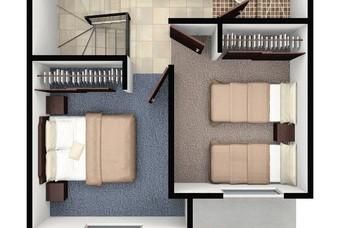 Plano de Segundo piso de casa Huehuetoca en Real Castilla